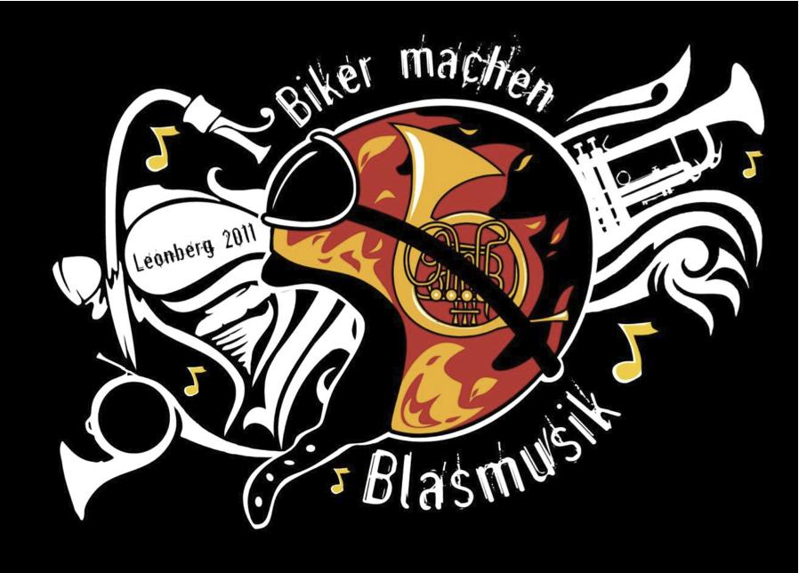 Biker machen Blasmusik